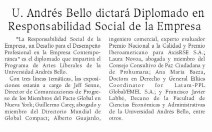 Universidad Andrés Bello dictará Diplomado en RSE