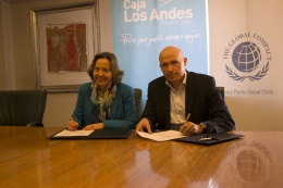 Caja Los Andes adhiere a Red Pacto Global Chile