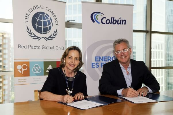 Colbún adhiere a Red Pacto Global Chile