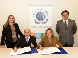 Gardilcic firma adherencia a Red Pacto Global Chile